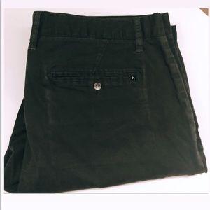 Comfortable Dark green Hurley Pants